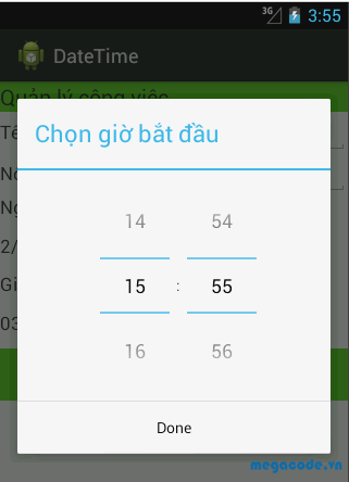 TimePickerDialog trong Android