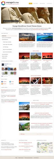 Voyage Travel WordPress Themes