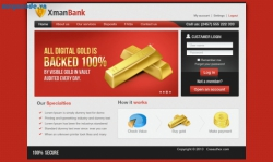 Convert PSD Xman Bank to HTML