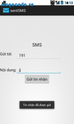 Code gửi SMS đơn giản trong android