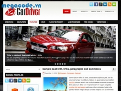 Template CarDriver giao diện blog Wordpress