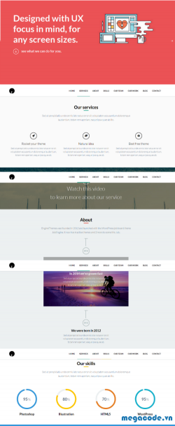 Chia sẻ theme wordpress OneEngine (Full code)
