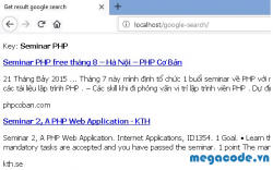 Code PHP: lấy nội dung của google search