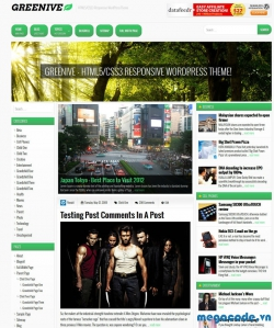 Miễn phí theme Greenive wordpress