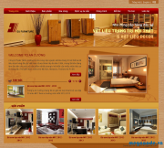 Desing Template index site nội thất bằng PTS