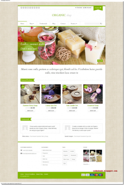Theme shop spa,mỹ phẩm Organic Shop bằng WordPress